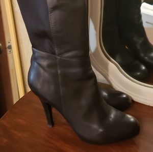 Me Too Lorena Stiletto Knee High Leather Boots